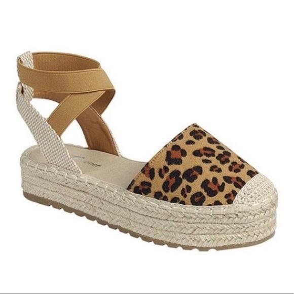 Evolving Always Shoes - Leopard Espadrilles